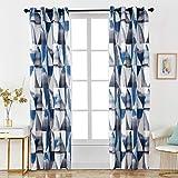 Dalina Textil 2 Piezas Cortina con Estampado Multidiseño para Salón o Habitación 140X260CM (Azul Cortina, 140x260cm)