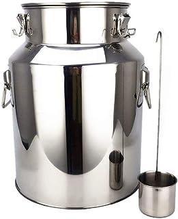 InLoveArts Barril de Acero Inoxidable de 4.75 galones 304, fermentador de Acero Inoxidable 18L, Cerveza Artesanal, elaboración de Cerveza, Aceite de Almacenamiento, arroz, Barril de Agua