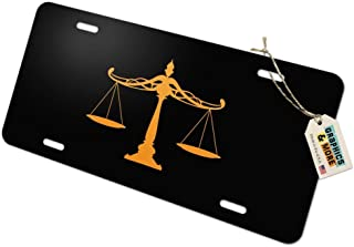 Graphics and More Scales of Justice Legal Lawyer Novelty Metal Vanity Tag License Plate