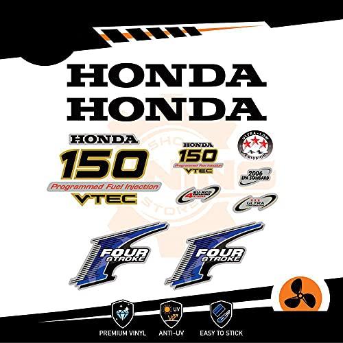 Generico Four Stroke - Kit de adhesivos para motor marino fuera de borda Honda 150 CV Four Stroke – Versión A