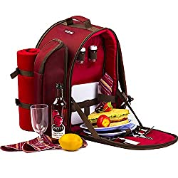 Apollo Walker Picnic Backpack with Blanket & Tableware