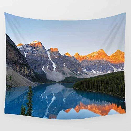 Tapiz pa?o de Playa para Hombres y Mujeres Elegante decoración de la habitación Picnic Snow Mountain Waters Tapices de Hippie de Mandala Table Cloth-150x130cm