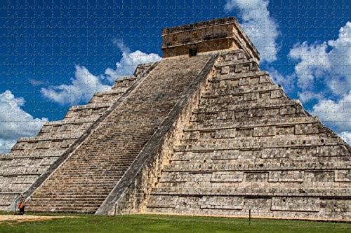 Chichen Itza Pyramid Mexico Jigsaw Puzzle para adultos 1000 piezas de madera viaje regalo recuerdo