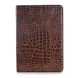 Aralinda Étui à rabat en cuir de crocodile léger avec support pour tablette Samsung Galaxy Tab A...