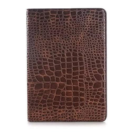 MAXJCN Caja del teléfono Compatible con Samsung Galaxy Tab 9.7 Un T555, del tirón del cocodrilo del Soporte del Cuero de luz-Peso de la Cubierta del Caso (2015) SM-T550 / Tablet, Durable de Moda.