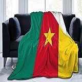 Flanelldecke mit Flagge von Kamerun, flauschig, bequem, warm, leicht, weich, Überwurf für Sofa, Couch, Schlafzimmer