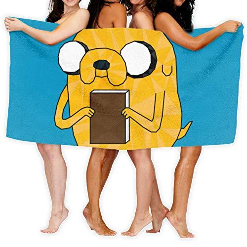 Toallas de baño Adventure Time Geometric Jake The Dog Toalla de Playa Unisex Toallas de Microfibra Impresión 3D Natación, Viajes, Deportes Toalla de Secado rápido (80 x 130 cm / 51,2 x 31,5 Pulgadas)