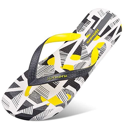 Heren Flip Flops Zomer Skid Outdoor Knijp Deodorant Personality Beach Schoenen voorjaar en de zomer Trend New Flip Flops (Color : Black and White, Size : 44)