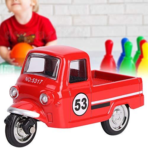 wosume 【𝐕𝐞𝐧𝐭𝐚 𝐑𝐞𝐠𝐚𝐥𝐨 𝐏𝐫𝐢𝐦𝐚𝒗𝐞𝐫𝐚】 Triciclo Modelo de Coche, Aleación Triciclo Modelo de Coche Altamente simulación Clásico Niños Tire hacia atrás Vehículos Juguete
