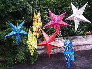 20 Pcs Mix Wholesale Lot Party Decorative Lamp Shade Indian Handmade Paper Star Lanterns,Beautiful Colorful Paper Lamp Shade
