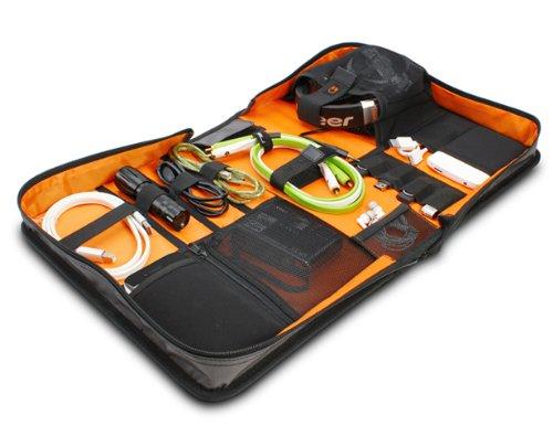 UDG U9983SG/OR Digi Wallet - Malet?n organizador para dj (tama?o grande, interior de color naranja), color plateado