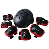 Rayhome Sports Protective Gear Skating Knee Elbow Support Pads Set Outdoors Safety Protection for Scooter,...