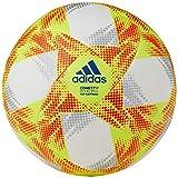 adidas CONEXT19 TCPT Balón de Fútbol, Hombre, Top:White/Solar Yellow/Solar Red/Football Blue Bottom:Silver Met, 5