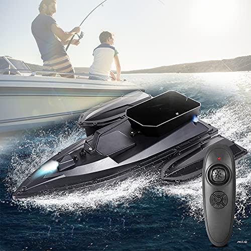 HIMAPETTR 500M Wireless Barcos Cebador, Intelligent Control Remoto Barcos, Carga 1.5kg, 5400 mAh batería, LED Light, Motor Doble, para Pesca Regalos De Pesca para Hombres