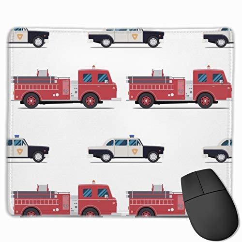 El coche de bomberos y el coche de la policía Gaming Computer Mouse Pad