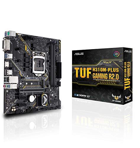 ASUS TUF H310M-PLUS Gaming R2.0 - Placa Base Gaming mATX Intel de 8a y 9a Gen. LGA1151 con iluminación Aura Sync RGB, Soporte DDR4 2666MHz y 20Gbps en el Puerto M.2