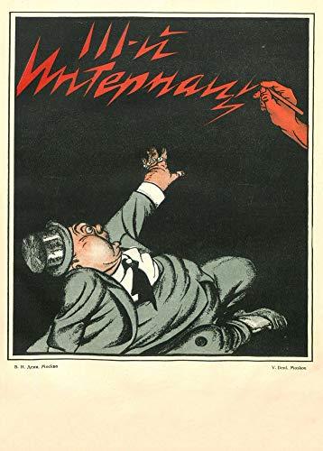 Poster vintage della propaganda russa 'IThird International', 1921, riproduzione 200 g/m² A3 vintage comunista russo propaganda