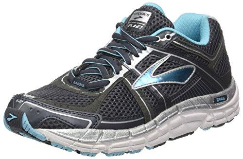 Brooks Women's Addiction 12 Running Shoe Anthracite/Bluefish/Silver 6 B(M) US