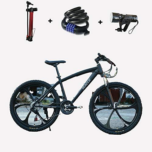 ZHIPENG Vollgefedertes Mountainbike Citybike 26-Zoll-27-Gang-Mountainbike Militärische Qualität Dickere Rohrwand Ist Stärker,Schwarz