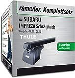 Rameder Komplettsatz, Dachträger SquareBar für Subaru Impreza Schrägheck (116198-07592-1)