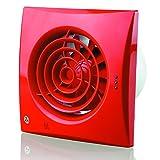 Blauberg UK 100Quiet TH 100mm ventilador Extractor de humedad–Color blanco brillante