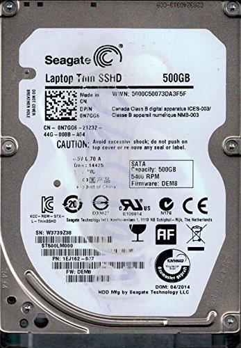 Seagate Hybrid-Festplatte (SSHD P/N: 1ej162–037F/W: dem8500GB WU
