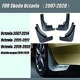 PanYFDD Guardabarros para Skoda Octavia Guardabarros Guardabarros para Octavia Car Mud Flap Splash Guardabarros Fender Auto Accesorios Styline (Color: 2015 2017 Octavia)