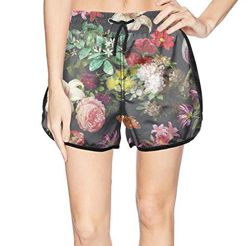 XULANG Women's Best Floral Poster Board Shorts Surf Summer Knee Length Boardshorts