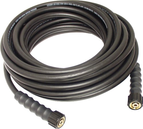 "Apache 10085591 5/16"" x 50' 3700 PSI Pressure Washer Hose,Black"