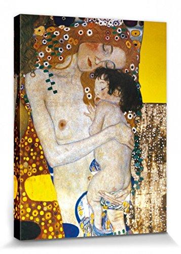 1art1 Gustav Klimt - Le Tre età della Donna, Dettaglio Stampa su Tela (40 x 30cm)
