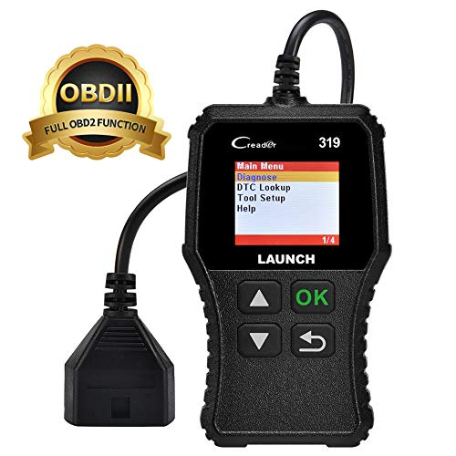 LAUNCH OBD2 Scanner CR319 Automotive Car Code Reader Scan Tool Check Engine Light, O2 Sensor and EVAP Systems Car Diagnostic Scanner with Full OBDII Functions DTC Lookup