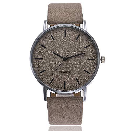 Dorical Uhren Armbanduhr für Damen Herren, Männer Frauen Armbanduhr Ultra-flach Slim-Uhr mit Kunstleder-Armband Promo(Grau)