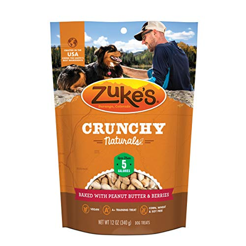 Zuke's Crunchy Naturals Training Dog Treats Baked With Peanut Butter and Berries - 12 oz. Bag