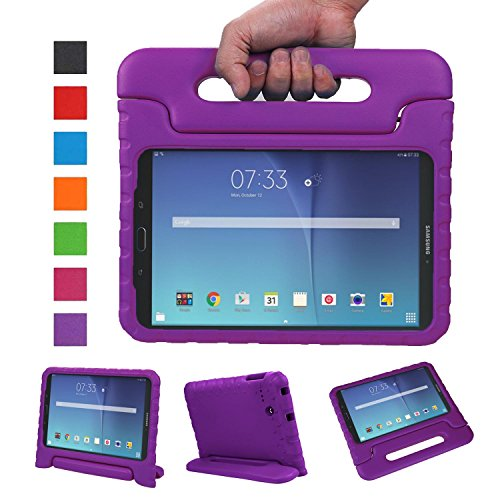 NEWSTYLE Tab E 8.0 Kids Case - Shockproof Light Weight Protection Handle Stand Kids Case for Samsung Galaxy Tab E 8.0 Inch 2015 Tablet (Not Fit Tab E 9.6 or Other Tablet) (Purple)
