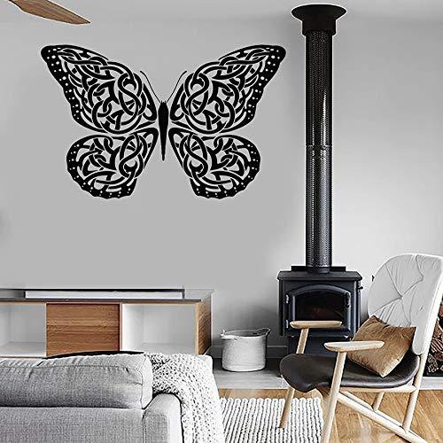 Cuerda nudo calcomanía de pared patrón de mariposa dormitorio sala de estar artista decoración del hogar vinilo etiqueta de la ventana hermosa flor mural