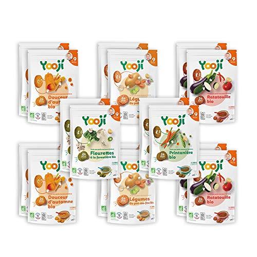Yooji - Panier de Légumes et Féculents Bio pour le Repas de Bébé de 9 à 12 Mois - Une Alternative aux Petits Pots pour une Alimentation Saine et Équilibrée - Saveur Recette Composée pour 60 Repas