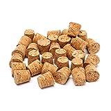 TIANTIAN Lot de 50 bouchons coniques en liège naturel pour bouteille de vin - Parfaits pour la fabrication de vin et les loisirs créatifs - 18 x 15 x 35 mm