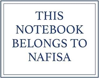 This Notebook Belongs to Nafisa