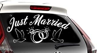 para Boda o reci/én Casados con Texto en ingl/és /«Just Married/» Se/ñal de Boda para Coche CELYCASY para decoraci/ón de Coche
