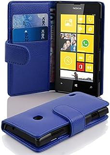 Fodral kompatibelt med Nokia Lumia 520 i KUNGS BLÅ - Skyddsfodral av strukturerat syntetiskt Läder med Stativfunktion och ...