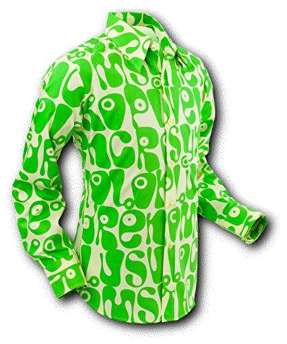 Chenaski 70er Jahre Hemd Moloko Green-Yellow Größe XL