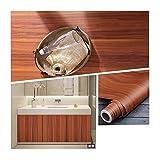 HDS Möbel Renovierung Aufkleber Alte Kleiderschränke Log Türen Tischwasserdicht Holzmaserung Aufkleber Holzimitation dekorative Tapete Selbstklebende leichtes Öffnen und Schließen