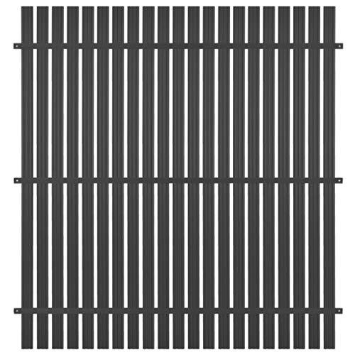 vidaXL Panel de Valla Aluminio 180x180 cm Gris Antracita Jardín Patio Terraza
