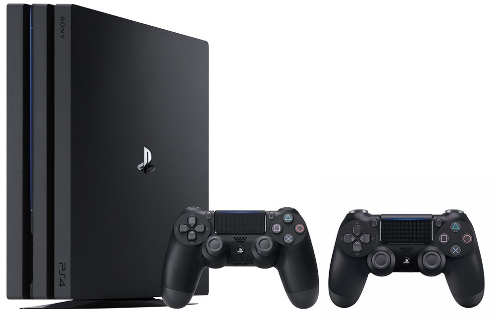 PlayStation 4 Pro Console Bundle (2 Items): PS4 Pro 1TB Console and an Extra PS4 Dualshock 4 Wireless Controller - Jet Black [video game]
