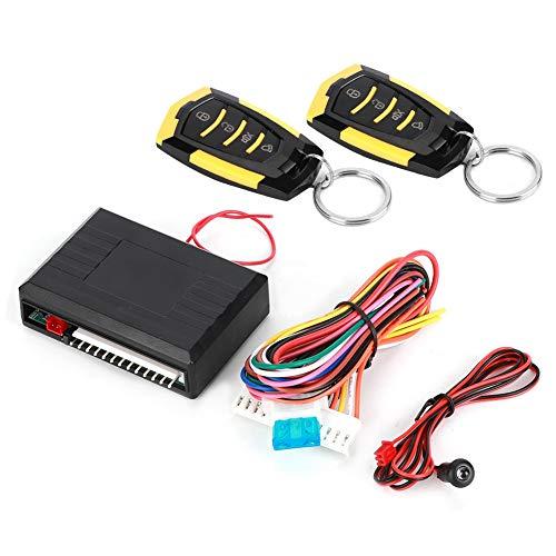Qiilu Kit chiusura centralizzata con sistema di accesso senza chiave per allarme auto universale con telecomando