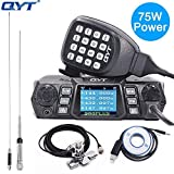 QYT KT-980 Plus Powerful 75W(VHF)/ 55W(UHF) Dual Band Quad Standby Mobile Amateur (Ham) Radio with Programming Cable & CD+Antenna Kits