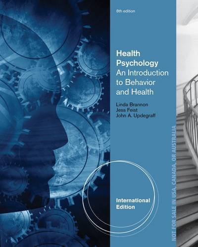 Health Psychology: An Introduction to Behavior and Health (International Edition) by Jess Feist (4-Mar-2013) Paperback