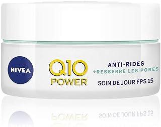 NIVEA Q10 Power Soin de jour Anti-Rides +Resserre les pores FPS 15 (1 x 50 ml), crème anti-âge enrichie en Q10 & créatine,...