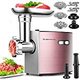 Electric Meat Grinder, CHEFFANO Stainless Steel Meat Mincer Sausage Stuffer, 2000W Max...
