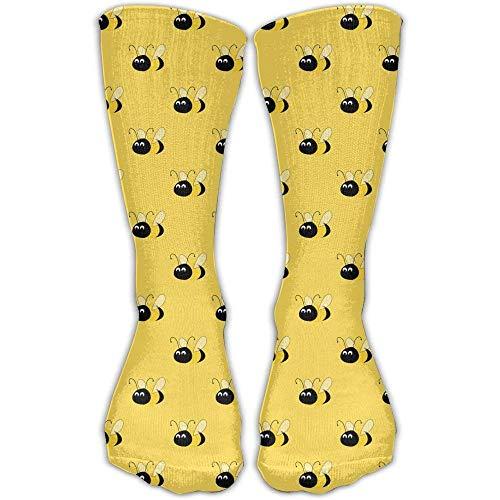 fringcoook Bumblebee Women & Men Socks Knee High Long Soccer Sport Tube Stockings Length 19.7 inch
